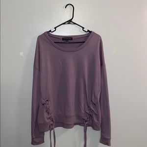 Purple dress sweat shirt